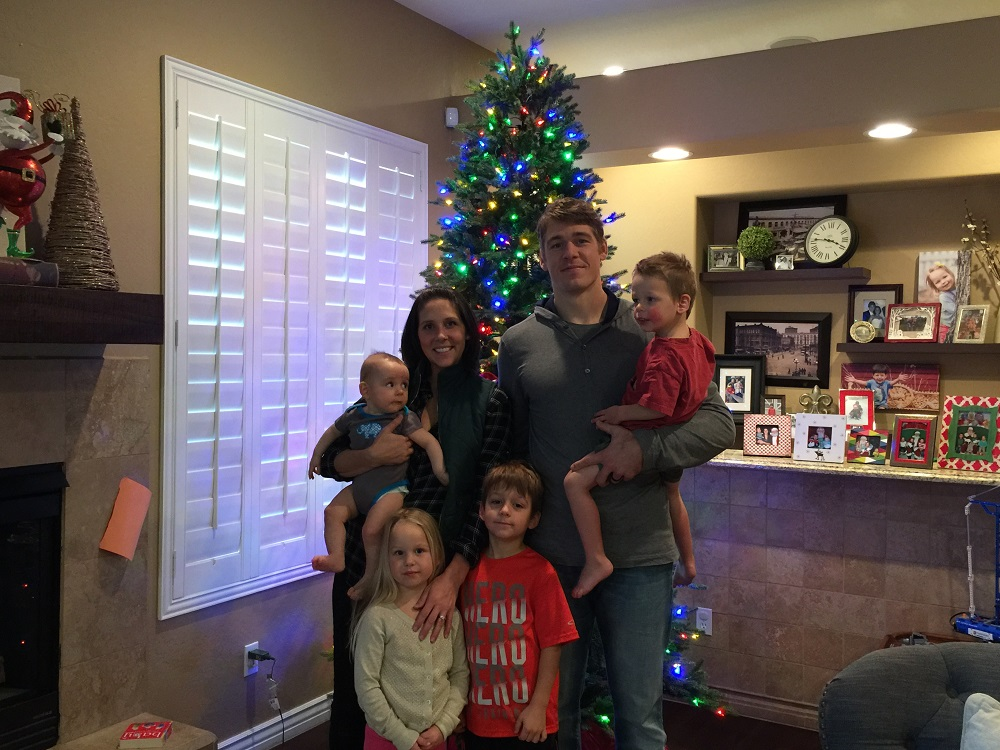 we are so thankful for the nfl and the journey it took us on says danielle who shared this family christmas - Nfl On Christmas 2014